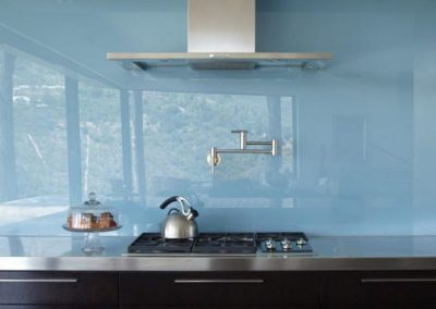 Blue Glass Backsplash