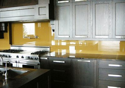 Yellow Glass Backsplash
