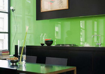 Green Glass Backsplash