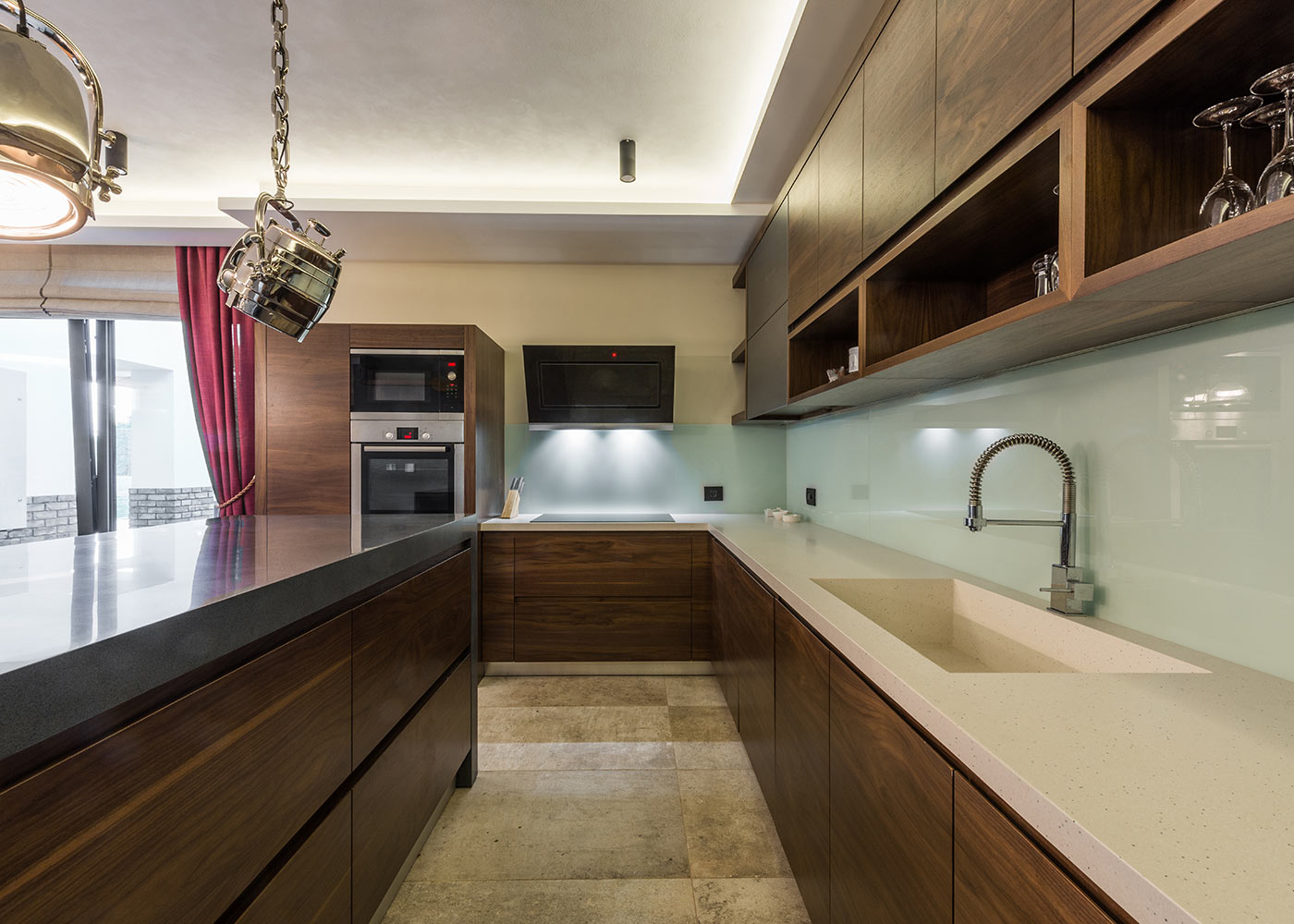Contemporary kitchen backsplash