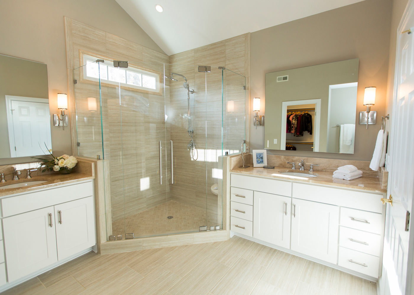 Neo-angle Custom Shower Doors