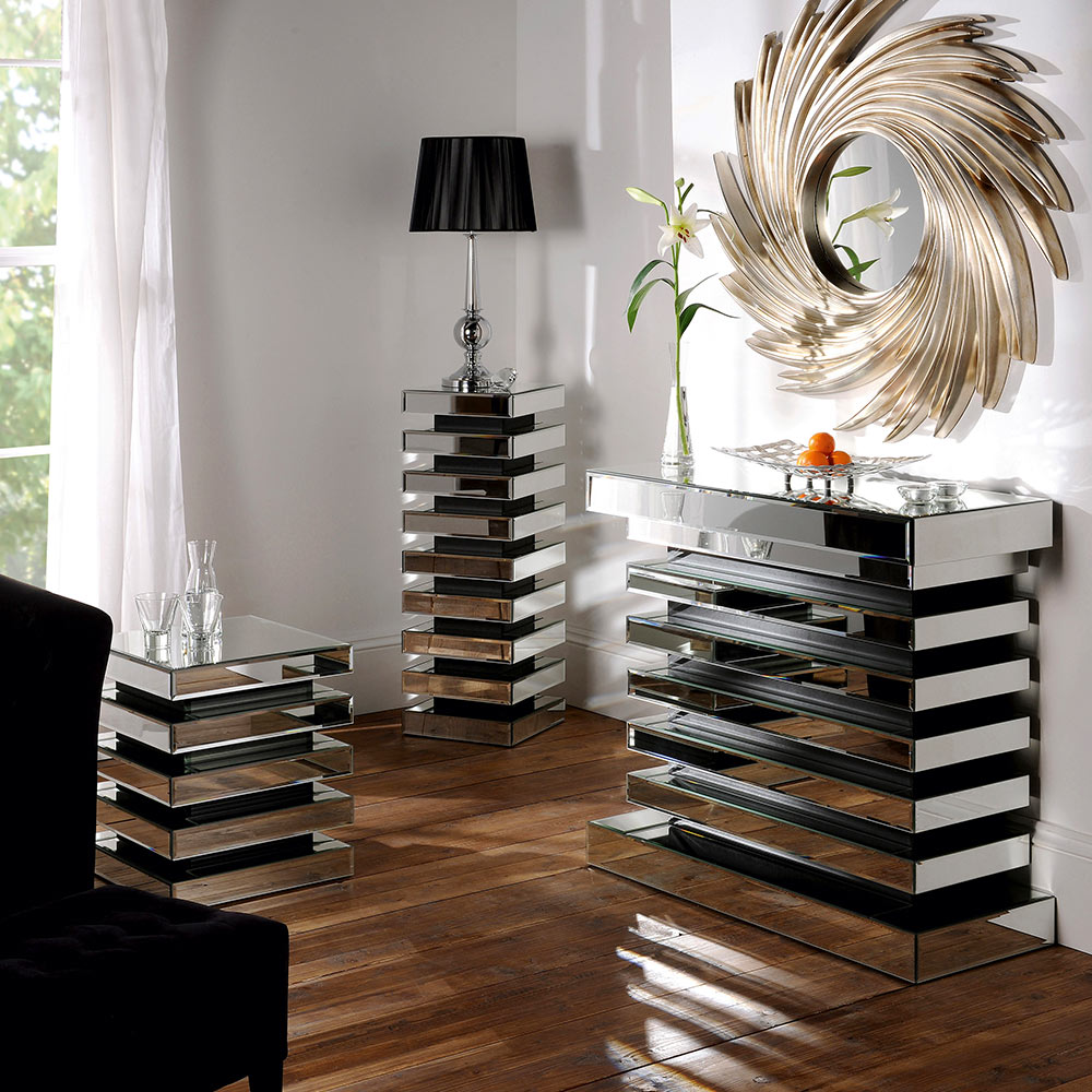 Furniture with mirrors