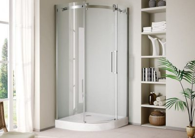Round Corner Sliding Shower Door