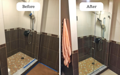 Our Projects – Swing frameless shower doors in Staten Island